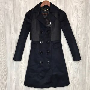 Burberry Prorsum Navy Cashmere Peacoat NWT Size 36